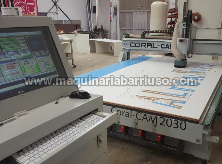 Fresadora CNC Coral CAM 2030 con mesa de 3050 x 2050mm