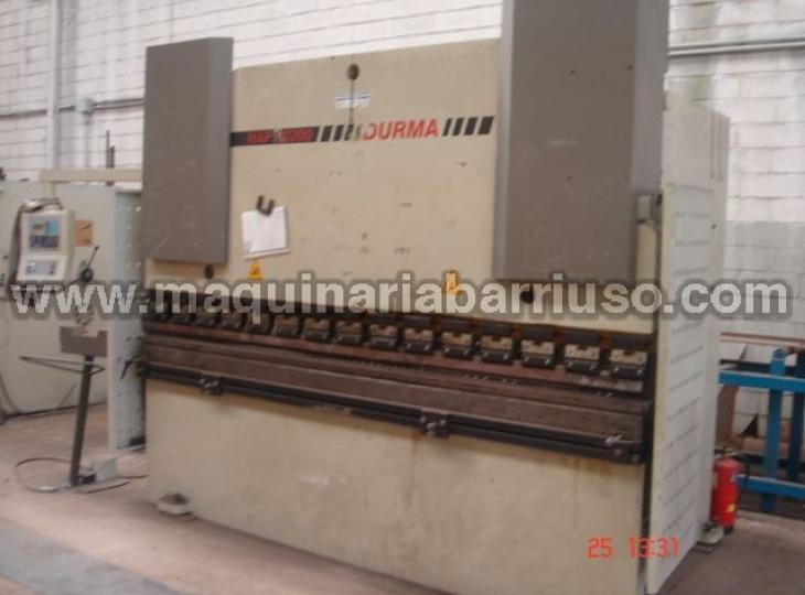Hydraulic DURMA press brake mod. HAP30200 de 3000x200 Tn. with two axis control.