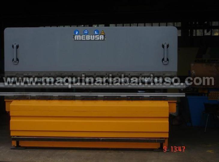 Plegadora Mebusa 3x 120 Tn con tope motorizado