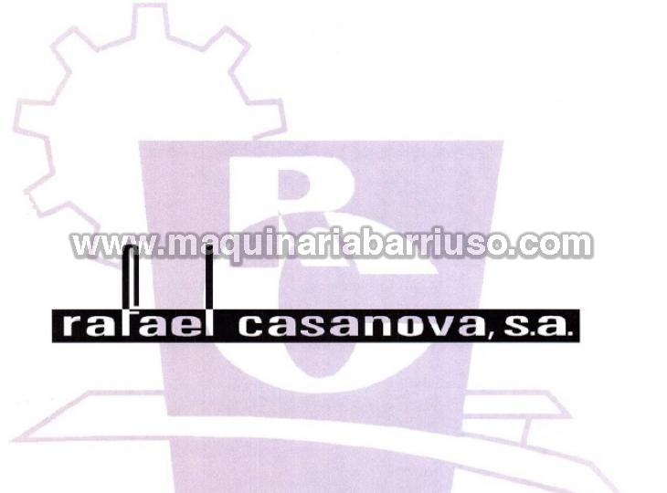 Contamos con todo tipo de recambios para todos los modelos de maquinas de la marca CASANOVA asi como con manuales de funcionamiento, planos hidraulico, electricos, despieces..etc